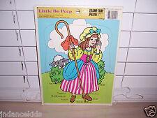 Vintage LITTLE BO PEEP Frame-Tray Puzzle 1987 12-Piece