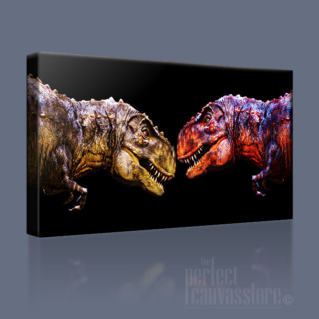 DINOSAURS POWERFUL JURASSIC T REX ICONIC CANVAS CANVAS CANVAS ART PRINT PICTURE - Art Williams 8c9e20