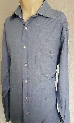 Industrioso Men's Dkny Blu 100% Cotone A Manica Lunga Formale/camicia Casual-taglia L (large)- Fissare I Prezzi In Base Alla Qualità Dei Prodotti