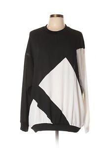 Women-Adidas-Black-White-Pullover-Size-XL