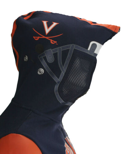 NCAA Youth Virginia Cavaliers Full Zip Helmet Masked Hoodie Navy