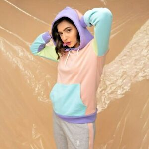 Trending Casual Color block Hoodie light feel French terry multi colors unisex