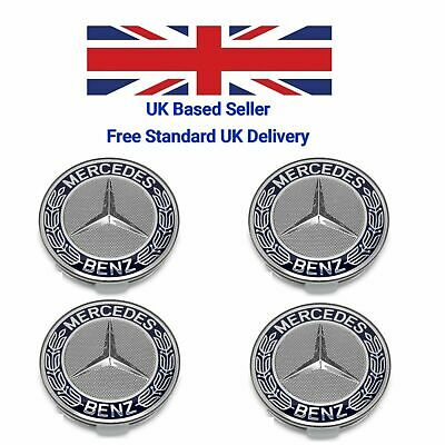 X4 Mercedes-Benz Centre Hub Badges 75mm