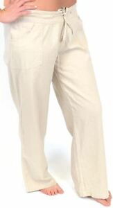 Tom Franks Ladies Linen Blend Full Length Trousers