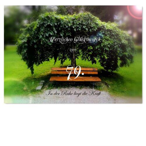 Geburtstag Glückwunschkarte Geburtstagskarten #080 DigitalOase 79