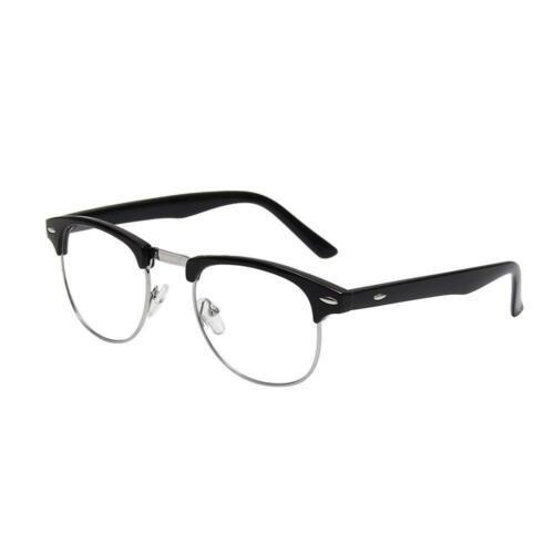 Shiratori New Vintage Classic Half Frame Semi-Rimless Clear Lens Glasses …
