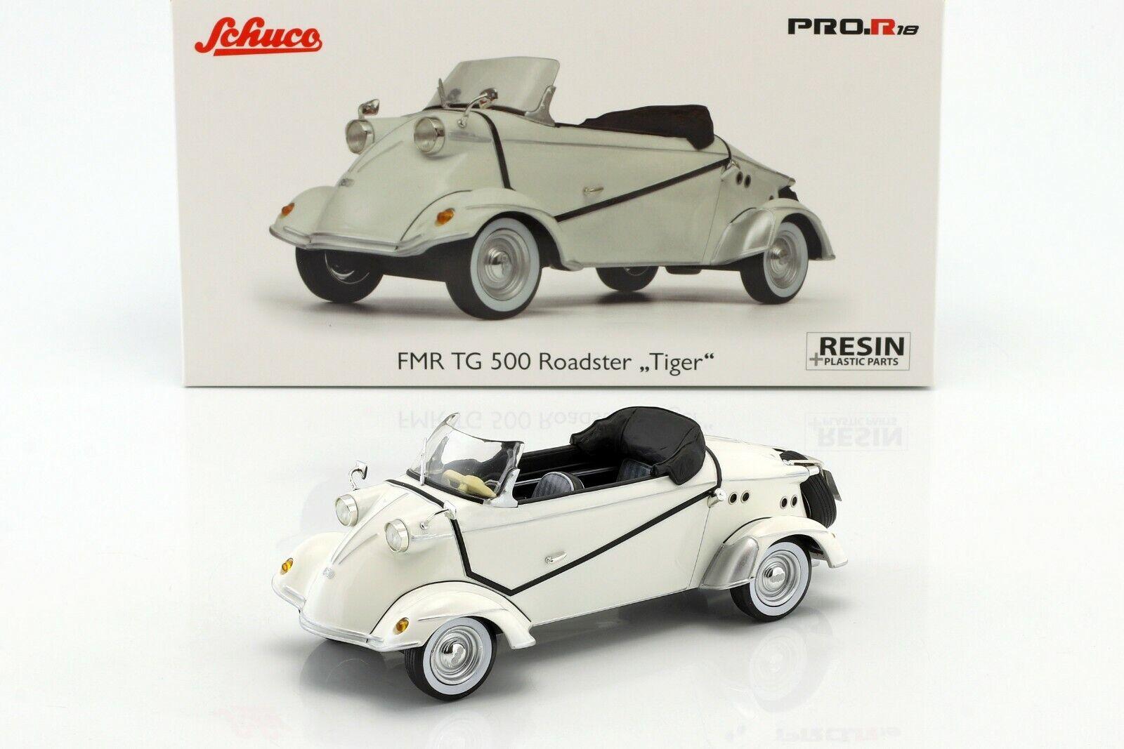FMR TG500 Tiger Roadster 1958-1961 White - 1 18 - SCHUCO