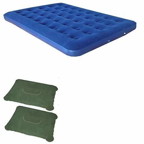 Zaltana Single Size Air Mattress and 2 Inflatable Pillow Combo (AMS+PL1X2)