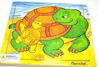Puzzled Turtle and Baby Wooden Jigsaw Puzzle Toys