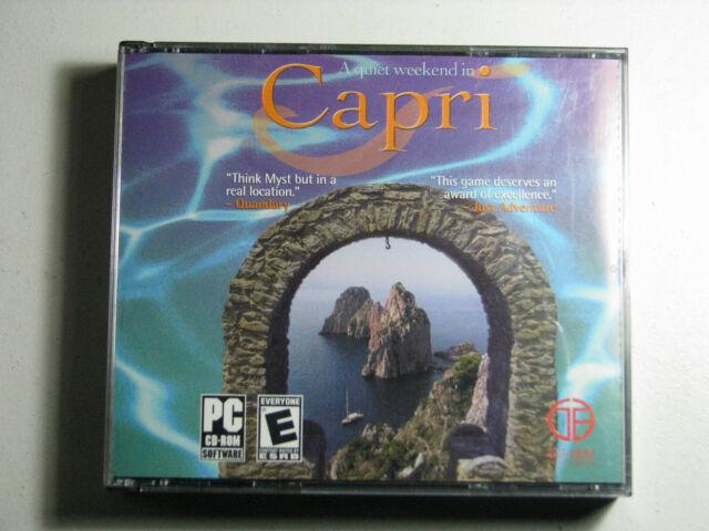A Quiet Weekend in Capri PC CD-ROM 2004 Adventure Got Game Entertainment