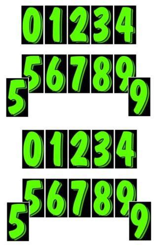 Black 24 packs Car Dealer Window Stickers 7 1//2 Inch Numbers Green