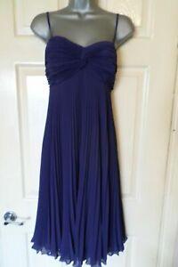 Robe plissée Marks & Spencer bleue