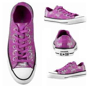 a4e2d03c4484 Converse All Star CT OX - Women s Metallic Purple Silver 543875F