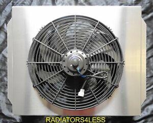 "NEW ALL ALUMINUM RADIATOR FAN SHROUD 60 61 62 CHEVY TRUCK PICKUP GM WITH 16/"" FAN"