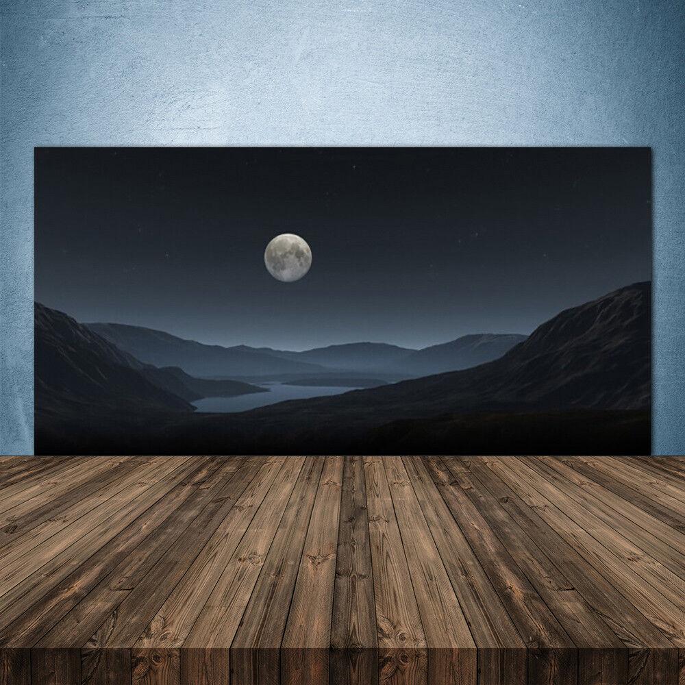 Crédence de cuisine en verre Panneau 140x70 Paysage Nuit Lune