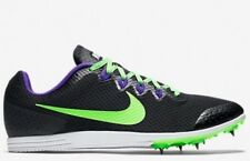 NIKE Zoom Rival D 9 Distance Running Shoes Spikes Black Purple Green 10
