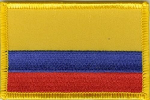 Ricamate Colombia bandiera bandiera aufbügler Patch 8 x 5 cm