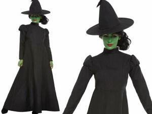 Vestiti Halloween Strega.Dettagli Su Strega Malvagia Costume Costume Da Donna Per Halloween Streghe Vestito Uk 4 18