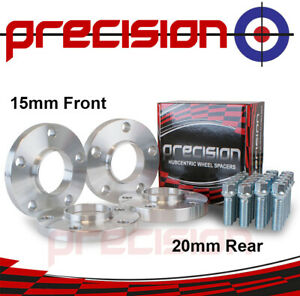 Staggered-Hubcentric-Spacers-15-20mm-amp-Bolts-Nuts-for-Genuine-Audi-A5-Alloys