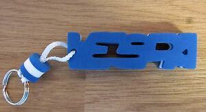 Vespa Word Foam Letter Blue / White Key Fob Ring Clearance