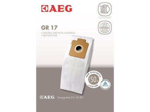 für AEG Electrolux Größe 17 GR17 10 Staubsaugerbeutel 2 Original AEG GR 17