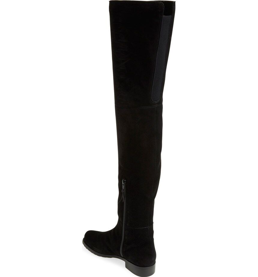 Stuart Weitzman Hilo Over The The The Knee Suede Stiefel Thigh High Flat Stiefelies 5.5 1844f3