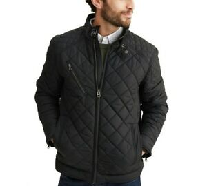 Biker Jacket Diamond Fabric Style Men's Black Quilted Parachute 0Eqwx1a