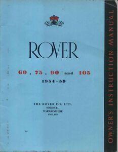 rover p4 54 59 models 60 75 90 105 instruction manual handbook rh ebay co uk rover 75 user manual Rover 75 Coupe