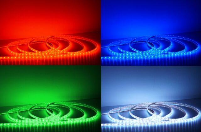 Ultra hell 5M bis 20M LED Strip RGB  Band Leiste 24V 18-20 Lumen / LED