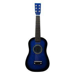 23-pollici-chitarra-acustica-6-Corde-Strumento-Musicale-bambini-giocattolo-regalo-di-Natale-blu