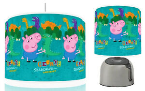 Peppa pig george dino ceiling light shade touch lamp kids room set image is loading peppa pig george dino ceiling light shade touch aloadofball Image collections