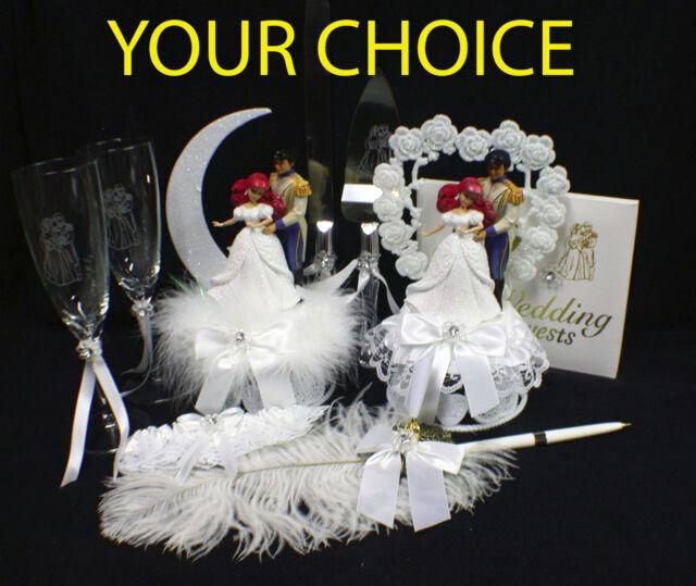 DISNEY Little Mermaid Wedding Cake Topper Princess,  Ariel Prince EricTopper