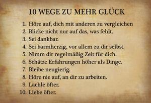 10-Wege-zu-mehr-Glueck-Blechschild-Schild-gewoelbt-Metal-Tin-Sign-20-x-30-cm