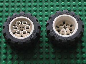 2-x-Roue-LEGO-TECHNIC-White-Wheel-20x30-Balloon-Med-6582c01-6582-6581-Set-5281