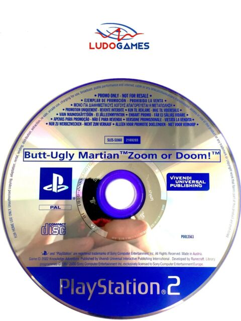 Butt Ugly Martian Zoom Or Doom PAL/EUR Promo Mint Condition PS2 Playstation
