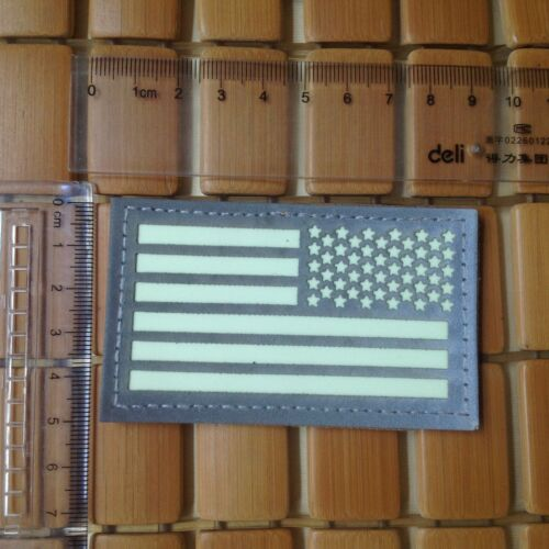 RIGHT  IR US FLAG Reflect Tactical Army AIRSOFT PATCH//GLOW IN THE DARK