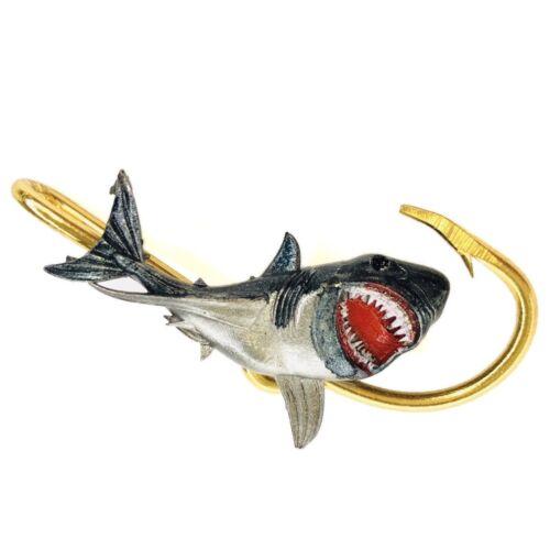 Shark Hookit®️ By Off The Hook Jeweler©️ Shark hat hook hat clip
