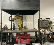 Fanuc Robot Welding Cell With Everything Arcmate 100i Rj2 Lincoln Electric 455m