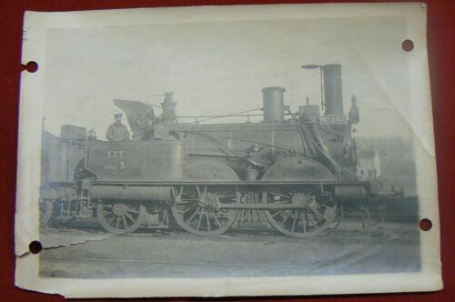Photographie Locomotive Vapeur La Ville de St Mihiel en 1912 Dépôt de Sézanne
