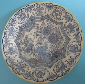 Delft-Vintage-Plate-Birds-and-flowers-by-Albrecht-Keiser-Netherlands-Made