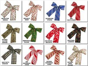 Pre-made-Bow-7-034-X8-034-Holiday-Ribbon-Bow-Choose-Design