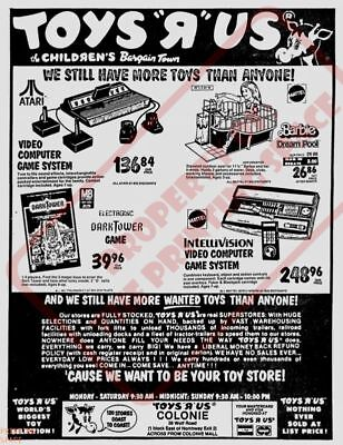 TOYS R US Wall Poster 24 x 36 inch Vintage Retro Promo Video Game 001