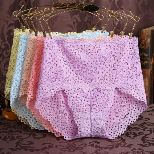 Women's High Waist Lace Underwear Briefs Panties Knickers Tummy Control Shaper