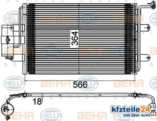 entre autres pour VW AUDI SKODA SEAT HellaCondensateur Climatisation 8fc 351 036-384