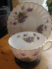 Vintage Radfords  Bone China Tea Cup And Saucer - Made in England  VIOLETS A1