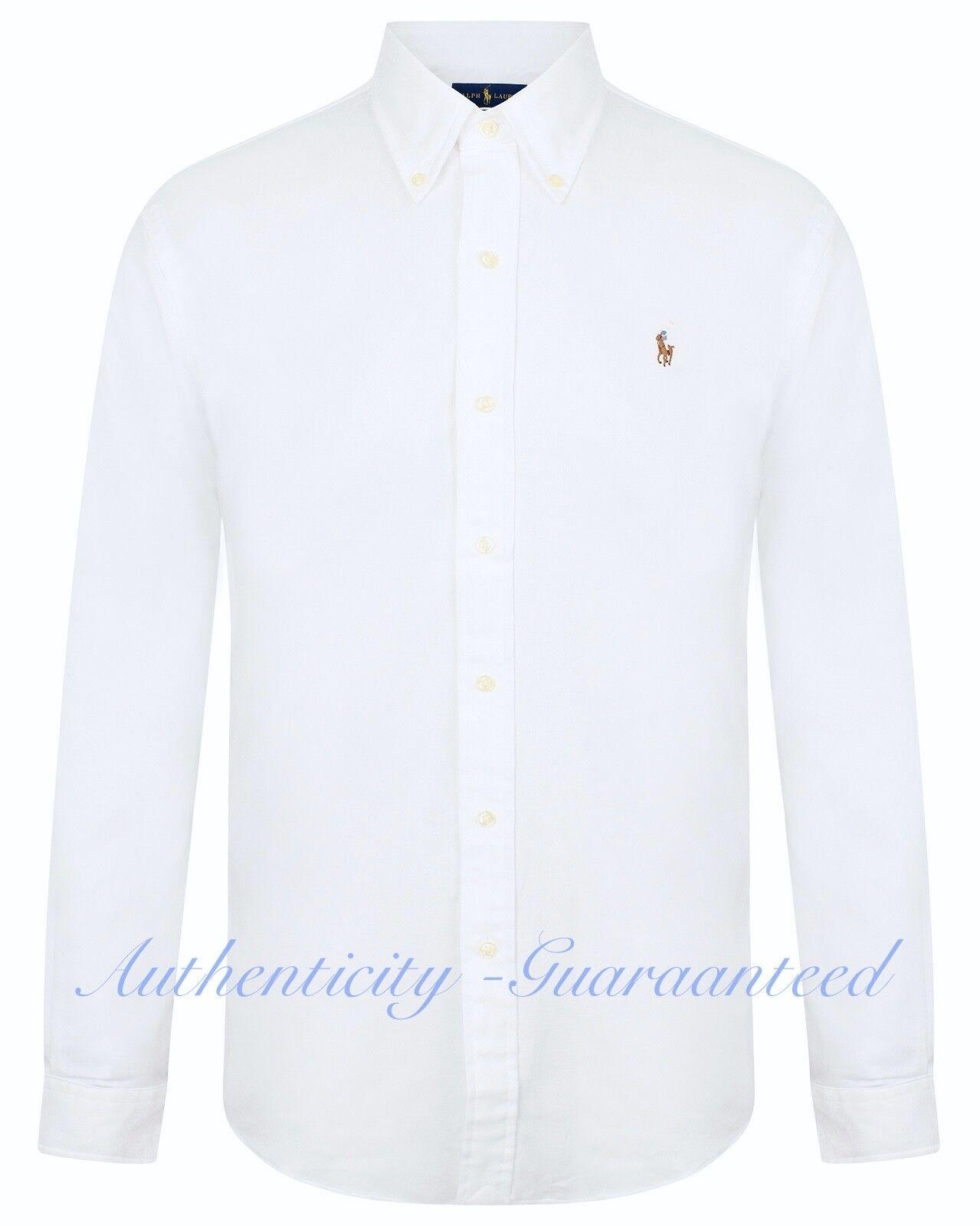 Ralph Lauren Slim Fit Stretch Oxford Cotton Shirt White S-XXL RRP