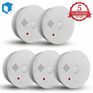 5-Year-Smoke-Detector-Fire-Alarm-Battery-Operated-Home-Fire-Safety-Alert-Warning