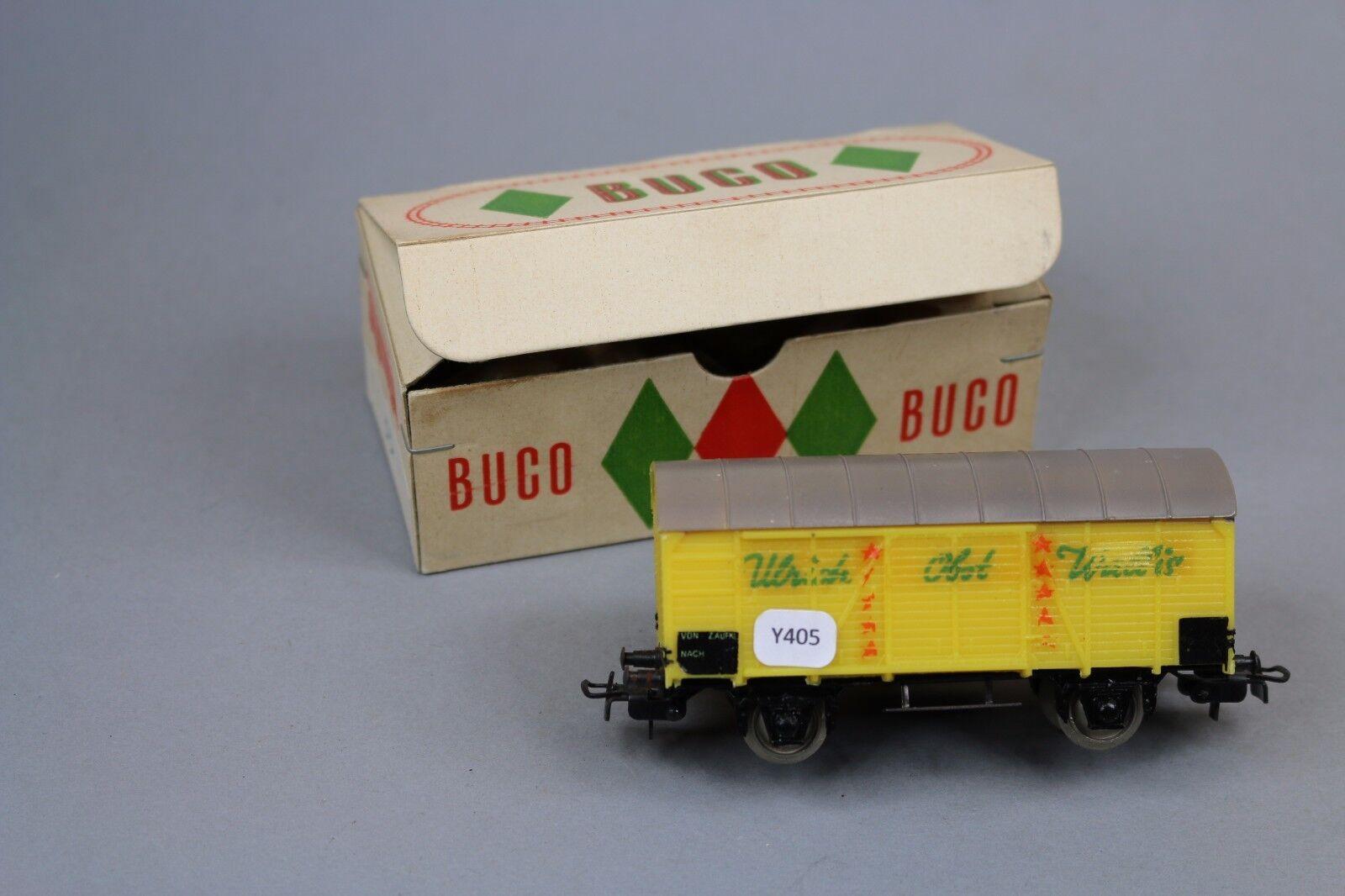 Y405 buco train oh rare boxcar 2 axles ulrich fruit yellow grey valais