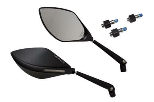 Highsider Motorrad Spiegel mit LED Blinker TOREZZO schwarz E-geprüft