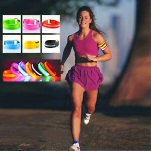 Reflective LED Light Arm Armband Strap Safety Belt Night Running Cycling Walking